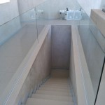 Frameless sunken in Balustrade