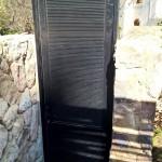 Aluminium lourve hinge door