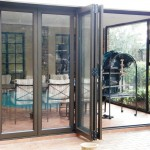 Sliding folding doors open
